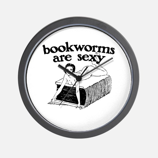 Bookworms Are Sexy Wall Clock