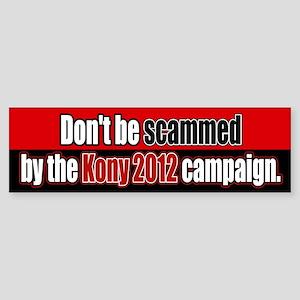 Anti Kony 2012 Fraud Bumper Sticker