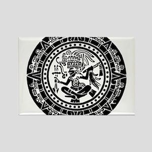 Mayan Calendar - Lights Rectangle Magnet