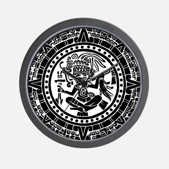 Mayan Calendar - Lights Wall Clock