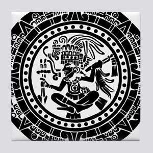 Mayan Calendar - Lights Tile Coaster