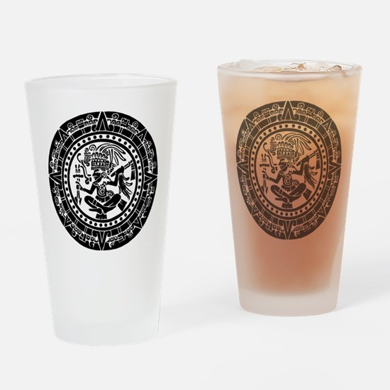 Mayan Calendar - Lights Drinking Glass