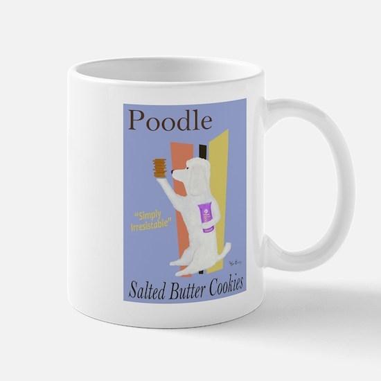 Poodle Salted Butter Cookies Mug