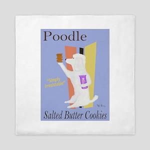 Poodle Salted Butter Cookies Queen Duvet