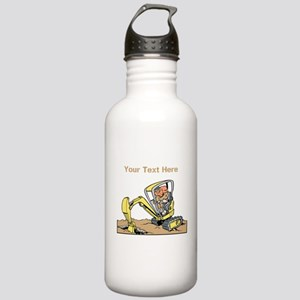 Digger and Text. Stainless Water Bottle 1.0L