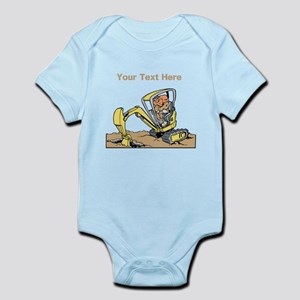 Digger and Text. Infant Bodysuit