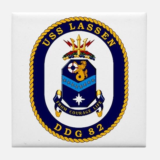 USS Lassen DDG 82 Tile Coaster