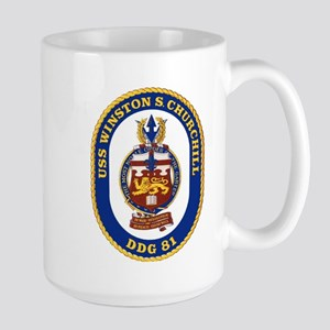 USS Churchill DDG 81 Large Mug