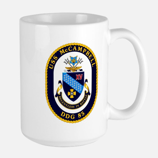 USS McCampbell DDG 85 Large Mug