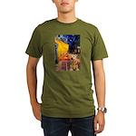 Cafe - Airedale (S) Organic Men's T-Shirt (dark)
