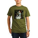 Ophelia - Aussie Cattle Pup Organic Men's T-Shirt