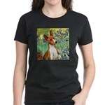 Basenji in Irises Women's Dark T-Shirt