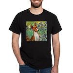 Basenji in Irises Dark T-Shirt