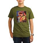 Angel / Bedlington T Organic Men's T-Shirt (dark)