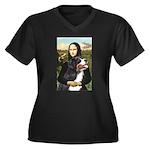 Mona's Bernese Mt. Dog Women's Plus Size V-Neck Da