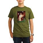 Seated Angel & Bolognese Organic Men's T-Shirt (da
