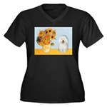 Sunflowers & Bolognese Women's Plus Size V-Neck Da