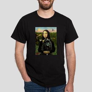 Mona Lisa & Her Bouvier Dark T-Shirt