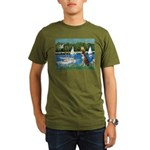 Sailboats & Boxer Organic Men's T-Shirt (dark)