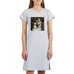 Ophelia & Bull Terrier Women's Nightshirt