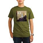 Mom's Bull Terrier (#1) Organic Men's T-Shirt (dar