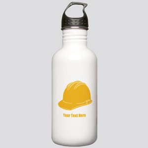 Workers Hat. Your Text. Stainless Water Bottle 1.0