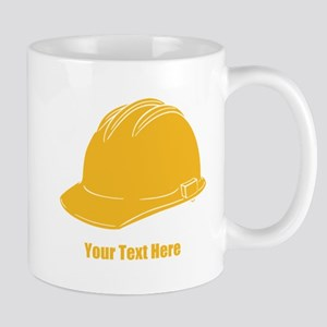Workers Hat. Your Text. Mug