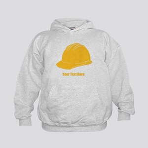 Workers Hat. Your Text. Kids Hoodie