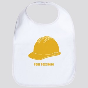 Workers Hat. Your Text. Bib