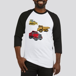 Construction Site Vehicles. Baseball Jersey