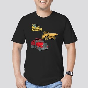 Construction Site Vehicles. Men's Fitted T-Shirt (