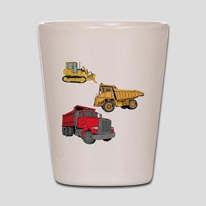 Construction Site Vehicles. Shot Glass