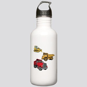 Construction Site Vehicles. Stainless Water Bottle