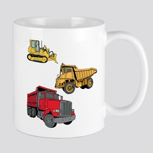 Construction Site Vehicles. Mug
