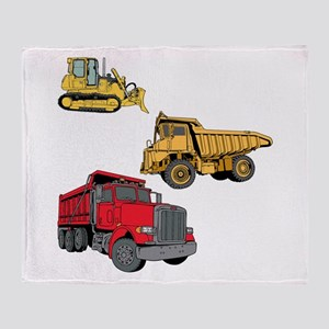 Construction Site Vehicles. Throw Blanket