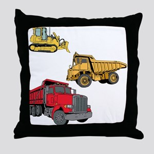 Construction Site Vehicles. Throw Pillow