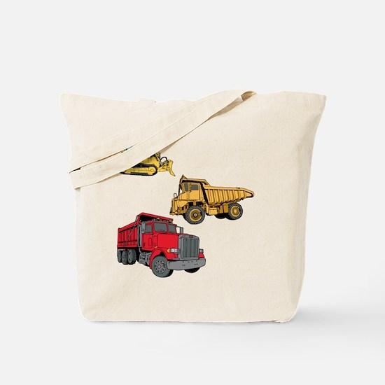 Construction Site Vehicles. Tote Bag