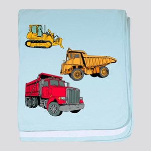 Construction Site Vehicles. baby blanket