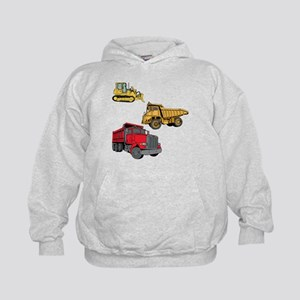 Construction Site Vehicles. Kids Hoodie