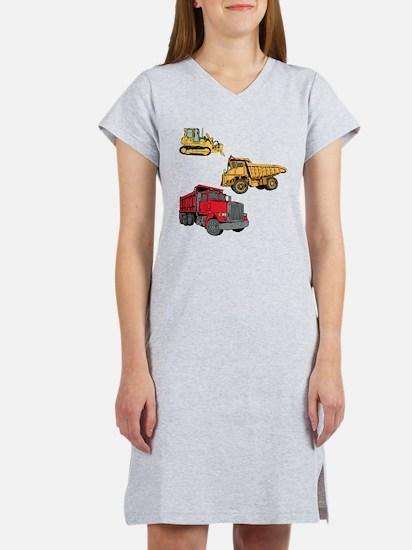 Construction Site Vehicles. Women's Nightshirt