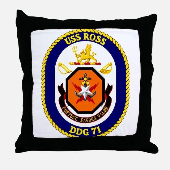 USS Ross DDG 71 Throw Pillow