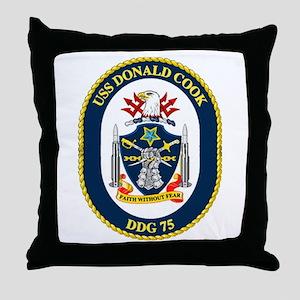 USS Donald Cook DDG 75 Throw Pillow