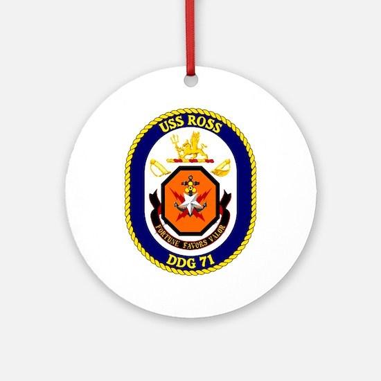 USS Ross DDG 71 Ornament (Round)