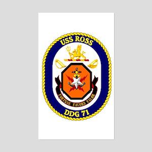 USS Ross DDG 71 Rectangle Sticker