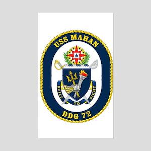 USS Mahan DDG 72 Rectangle Sticker