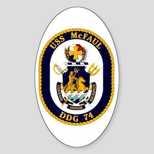 USS McFaul DDG 74 Sticker (Oval)