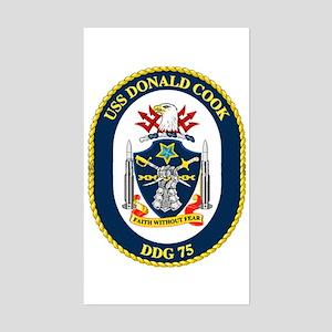 USS Donald Cook DDG 75 Rectangle Sticker