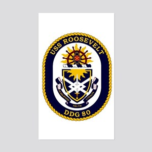 USS Roosevelt DDG 80 Rectangle Sticker