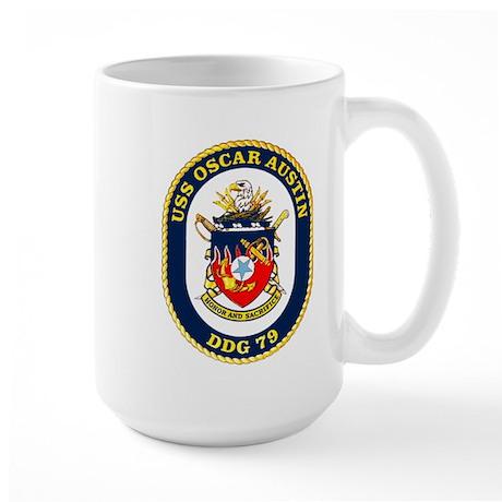 USS Oscar Austin DDG 79 Large Mug