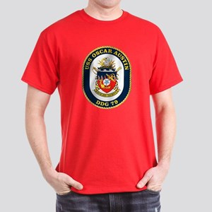USS Oscar Austin DDG 79 Dark T-Shirt